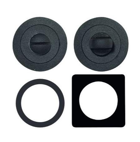 WC-Garnituur, vierkant + rond zwart