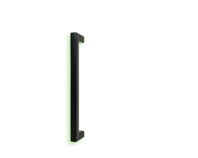 Trekker, vierkant zwart (voor glazen deur)