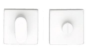 WC Garnituur, vierkant Kubic Shape wit