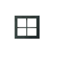 Inbouwkaders (patrijspoorten), zwart staal + helder glas